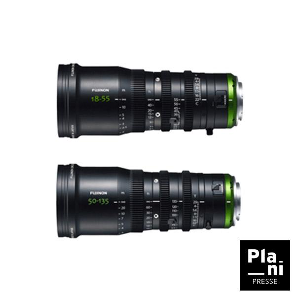 PLANIPRESSE   Optiques 35 MM   Fujinon MK 18-55 T2,9 et 50-135 T2,9