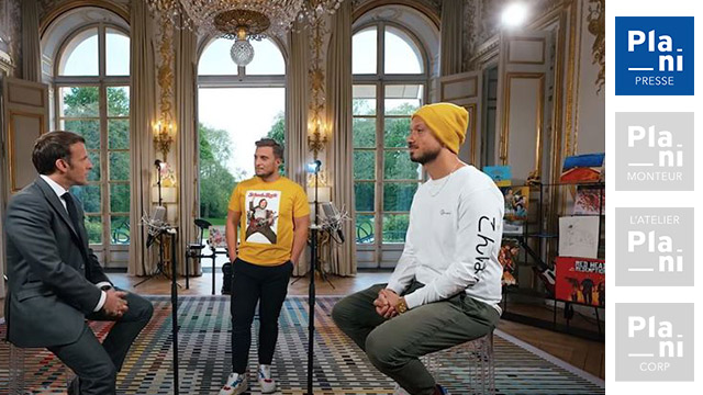 TOURNAGE A L'ELYSEE : CONCOURS D'ANECDOTES AVEC MCFLY ET CARLITO